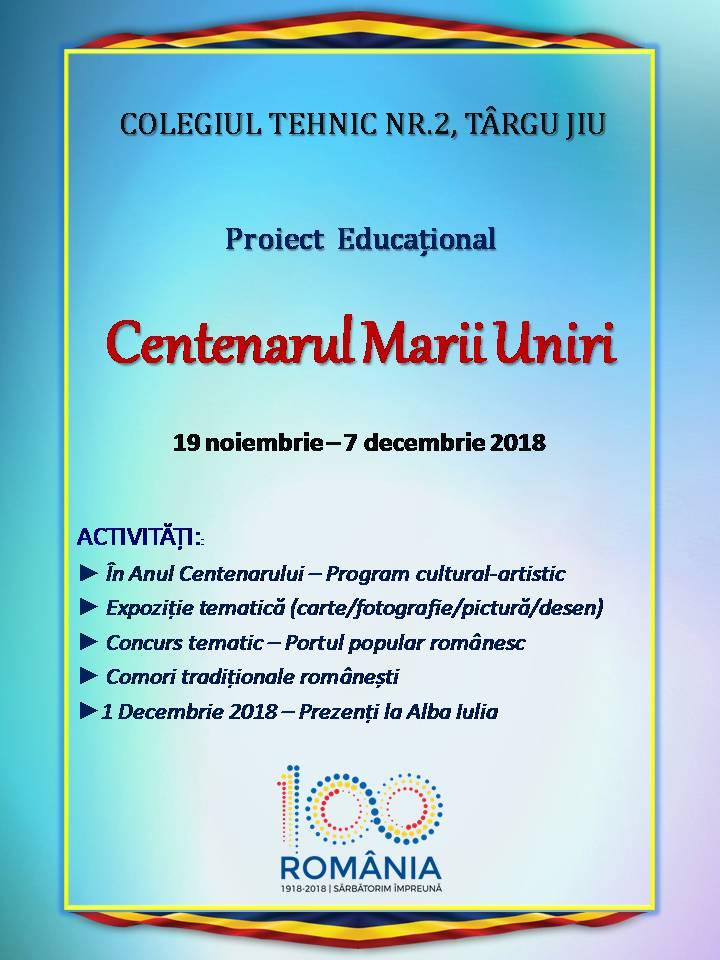 Afis centenar 2018