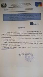 INVITATIE CONFERINTA LANSARE ERASMUS
